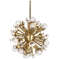Robert Abbey 713 Jonathan Adler Sputnik 18 Light 14 inch Antique Brass with Crystal Pendant Ceiling Light