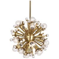 Robert Abbey 713 Jonathan Adler Sputnik 18 Light 14 inch Antique Brass Pendant Ceiling Light