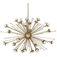 Jonathan Adler Sputnik 24 Light 48 inch Antique Brass with Crystal Chandelier Ceiling Light