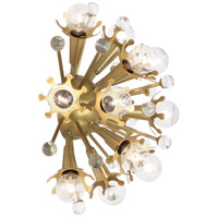 Jonathan Adler Sputnik 12 Light 14 inch Antique Brass Wall Sconce Wall Light