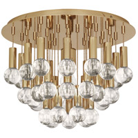 Jonathan Adler Milano 1 Light 15 inch Polished Brass with Crystal Flush Mount Ceiling Light, Lucite Accents