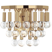 Robert Abbey 757 Jonathan Adler Milano 1 Light 14 inch Polished Brass and Crystal Wall Sconce Wall Light