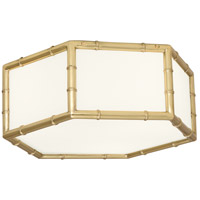 Robert Abbey 763 Jonathan Adler Meurice 3 Light 15 inch Modern Brass Flush Mount Ceiling Light