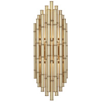 Robert Abbey 764 Jonathan Adler Meurice 2 Light 8 inch Modern Brass Wall Sconce Wall Light photo thumbnail