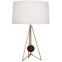 Robert Abbey 781 Jonathan Adler Ojai 28 inch 150 watt Aged Brass with Walnut Wood Table Lamp Portable Light in Walnuted Wood