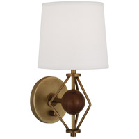 Robert Abbey 785 Jonathan Adler Ojai 1 Light 5 inch Aged Brass with Walnut Wood Wall Sconce Wall Light in Walnuted Wood