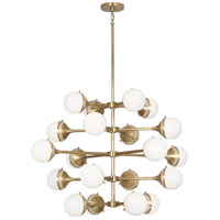 Jonathan Adler Rio 20 Light 40 inch Antique Brass Chandelier Ceiling Light