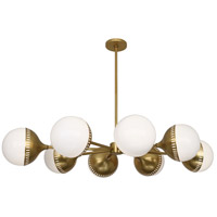 Robert Abbey 790 Jonathan Adler Rio 8 Light 34 inch Antique Brass Chandelier Ceiling Light