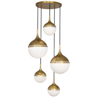 Robert Abbey 791 Jonathan Adler Rio 7 Light 15 inch Antique Brass Chandelier Ceiling Light
