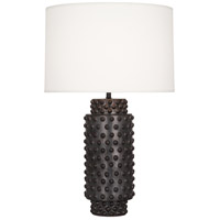 Robert Abbey 800 Dolly 28 inch 150 watt Textured Ceramic with Gunmetal Reactive Glaze Table Lamp Portable Light in Fondine Fabric thumb