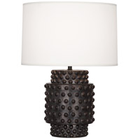 Dolly 21 inch 150 watt Textured Ceramic with Gunmetal Reactive Glaze Table Lamp Portable Light in Fondine Fabric