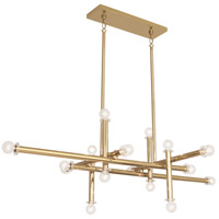 Robert Abbey 803 Jonathan Adler Milano 16 Light 28 inch Polished Brass Chandelier Ceiling Light
