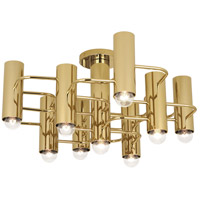 Robert Abbey 804 Jonathan Adler Milano 9 Light 24 inch Polished Brass Flushmount Ceiling Light