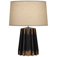 Robert Abbey 824 Rico Espinet Adirondack 22 inch 150 watt Distressed Black Painted Table Lamp Portable Light