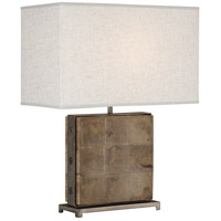 Robert Abbey 828 Oliver 22 inch 100 watt Unfinished Mango Wood with Patina Nickel Table Lamp Portable Light