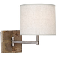 Robert Abbey 829 Oliver 1 Light 5 inch Uned Mango Wood with Patina Nickel Wall Sconce Wall Light