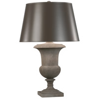 Robert Abbey 832X Helena 30 inch 150 watt Faux Limestone Painted Table Lamp Portable Light in Taupe With Matte Silver