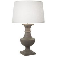 Robert Abbey 838 Bronte 39 inch 150 watt Faux Limestone Painted Table Lamp Portable Light in Oyster Linen thumb