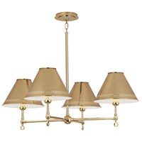 Robert Abbey Jonathan Adler St. Germain 4 Light Chandelier in Polished Brass 843