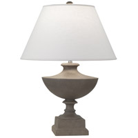Robert Abbey 846 Freya 23 inch 150 watt Faux Limestone Painted Accent Lamp Portable Light in Oyster Linen