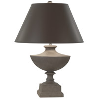 Robert Abbey 846X Freya 23 inch 150 watt Faux Limestone Painted Accent Lamp Portable Light in Taupe With Matte Silver