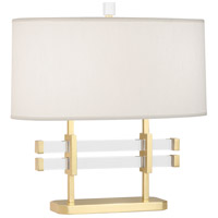 Robert Abbey 849 Plexus 18 inch 100 watt Modern Brass with Lucite Table Lamp Portable Light