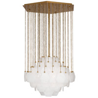 Robert Abbey 865 Jonathan Adler Vienna 3 Light 27 inch Modern Brass Chandelier Ceiling Light