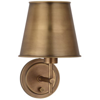 Aiden 1 Light 8 inch Aged Brass Wall Sconce Wall Light