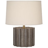 Robert Abbey 891 Anna 18 inch 100 watt Faux Brown Snakeskin with Aged Brass Accent Lamp Portable Light in Taupe Dupioni thumb