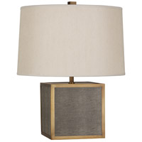 Robert Abbey 897 Anna 20 inch 150 watt Faux Brown Snakeskin with Aged Brass Accent Lamp Portable Light in Taupe Dupioni Aged Brass Accents