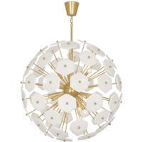 Robert Abbey 899 Jonathan Adler Vienna 12 Light 33 inch Modern Brass Chandelier Ceiling Light