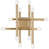 Robert Abbey 901 Jonathan Adler Milano 12 Light 18 inch Polished Brass Wall Sconce Wall Light