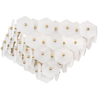 Robert Abbey 920 Jonathan Adler Vienna 4 Light 16 inch Modern Brass Flush Mount Ceiling Light