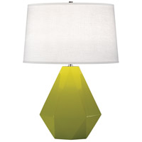Robert Abbey 935 Delta 23 inch 150 watt Apple with Polished Nickel Table Lamp Portable Light in Oyster Linen thumb