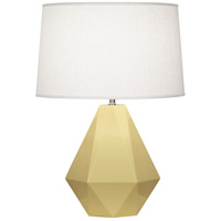 Robert Abbey 940 Delta 23 inch 150 watt Butter with Polished Nickel Table Lamp Portable Light in Oyster Linen