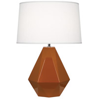 Robert Abbey 944 Delta 23 inch 150 watt Cinnamon with Polished Nickel Table Lamp Portable Light in Oyster Linen