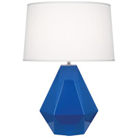 Robert Abbey 946 Delta 23 inch 150 watt Marine Blue with Polished Nickel Table Lamp Portable Light in Oyster Linen thumb
