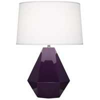 Robert Abbey 949 Delta 23 inch 150 watt Amethyst with Polished Nickel Table Lamp Portable Light in Oyster Linen