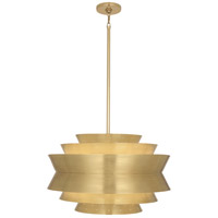 Robert Abbey 983 Pierce 3 Light 23 inch Modern Brass Pendant Ceiling Light