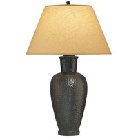 Beaux Arts 31 inch 150 watt Antique Rust Over Hammered Cast Metal Table Lamp Portable Light in Golden Saki