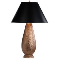 Robert Abbey 9866B Beaux Arts 34 inch 150 watt Dark Antique Copper Over Hammered Cast Metal Table Lamp Portable Light in Black with Gold Tortoise thumb