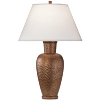 Robert Abbey 9867 Beaux Arts 31 inch 150 watt Dark Antique Copper Table Lamp Portable Light in Oyster Linen