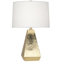 Robert Abbey 9872 Dal 26 inch 150 watt Modern Brass Table Lamp Portable Light