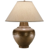 Robert Abbey 9938KCOP Foundry 26 inch 150 watt Copper Table Lamp Portable Light in Brussels Linen Natural