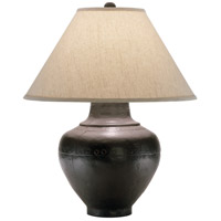 Robert Abbey 9938KRST Foundry 26 inch 150 watt Antique Rust Table Lamp Portable Light in Brussels Linen Natural