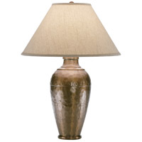 Robert Abbey 9939KCOP Foundry 29 inch 150 watt Copper Table Lamp Portable Light in Brussels Linen Natural