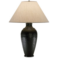 Robert Abbey 9939KRST Foundry 29 inch 150 watt Antique Rust Table Lamp Portable Light in Brussels Linen Natural