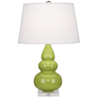 Robert Abbey A283X Small Triple Gourd 24 inch 150 watt Apple Accent Lamp Portable Light in Lucite photo thumbnail