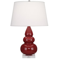 Robert Abbey A285X Small Triple Gourd 24 inch 150 watt Oxblood Accent Lamp Portable Light in Lucite photo thumbnail