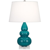 Robert Abbey A293X Small Triple Gourd 24 inch 150 watt Peacock Accent Lamp Portable Light in Lucite
